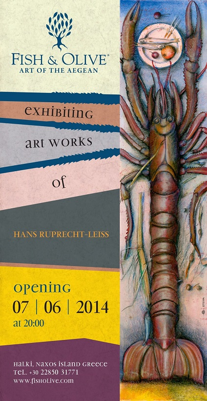 Hans Ruprecht-Leiss exhibition opening @ the Fish & Olive Gallery in Halki