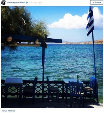 Anthony Bourdain in Naxos