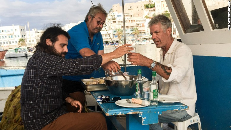 Anthony Bourdain Naxos Greece