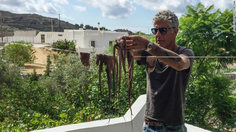 Octopus Anthony Bourdain Naxos