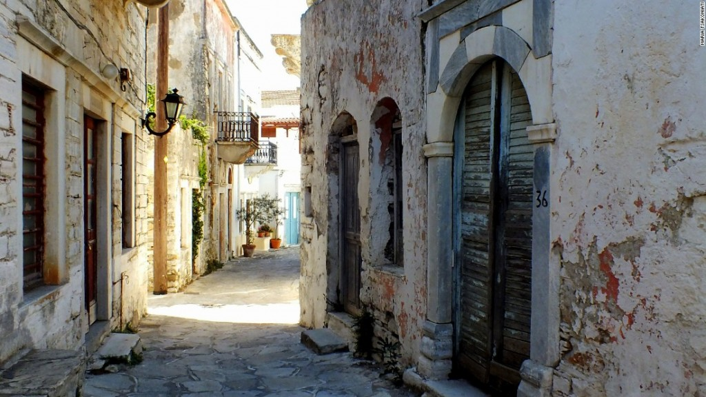 Naxos Chalki village