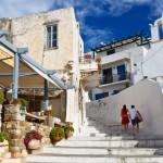 Naxos town.