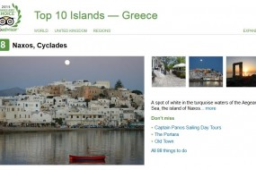 Naxos among top ten islands in Greece on Trip Advisor
