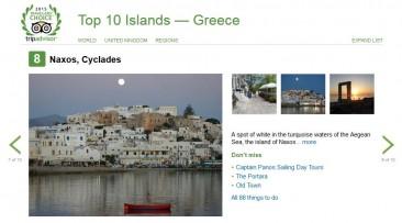 Naxos among top ten islands in Greece on Trip Advisor