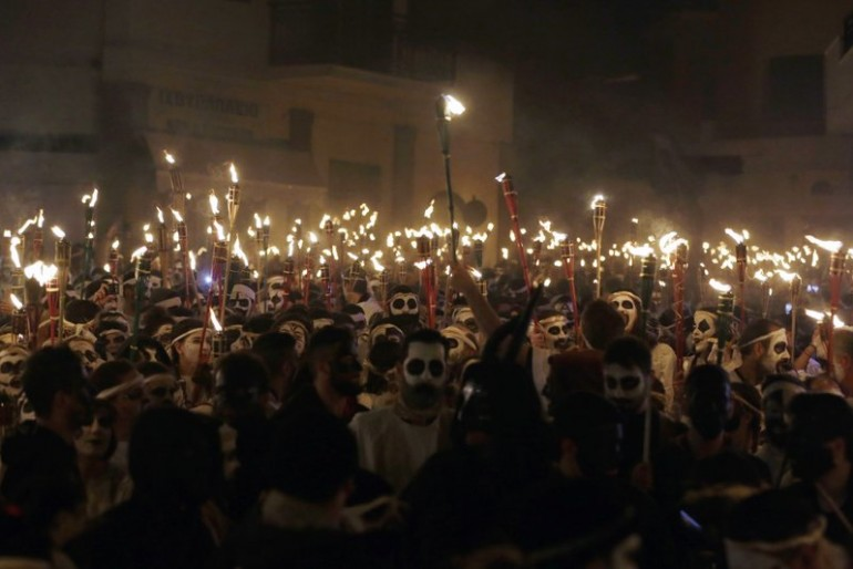 Greek island of Naxos celebrates Carnival with Torch Parade
