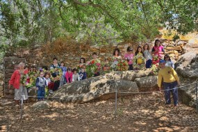 Flower feast on May Day at the Kouros in Melanes