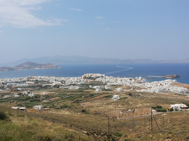 View of Naxos Town from St. John Chrysostom Convent