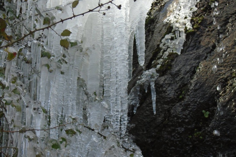 Frozen waterfalls in Naxos!