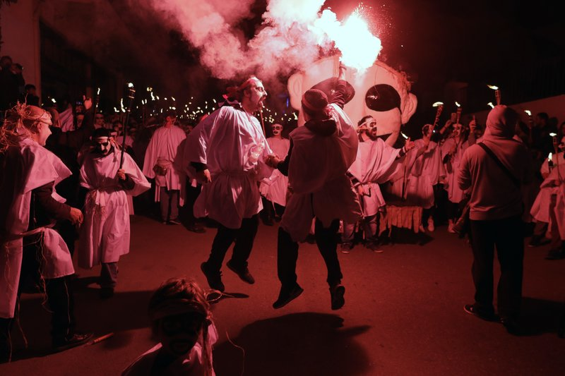 Torch parade Naxos island 2017