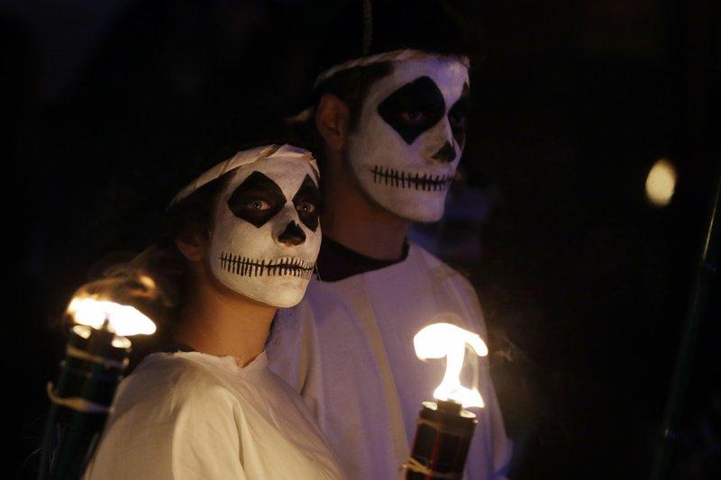 Torch parade Naxos