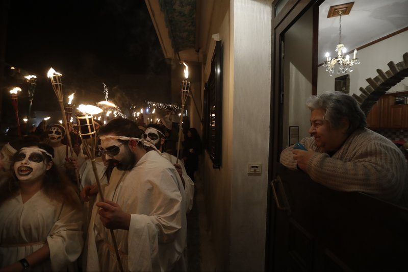 Torch procession Naxos